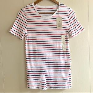 NWT a new day Striped Short Sleeve T-Shirt